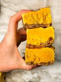 Raw Pumpkin Coconut CheesecakeBars