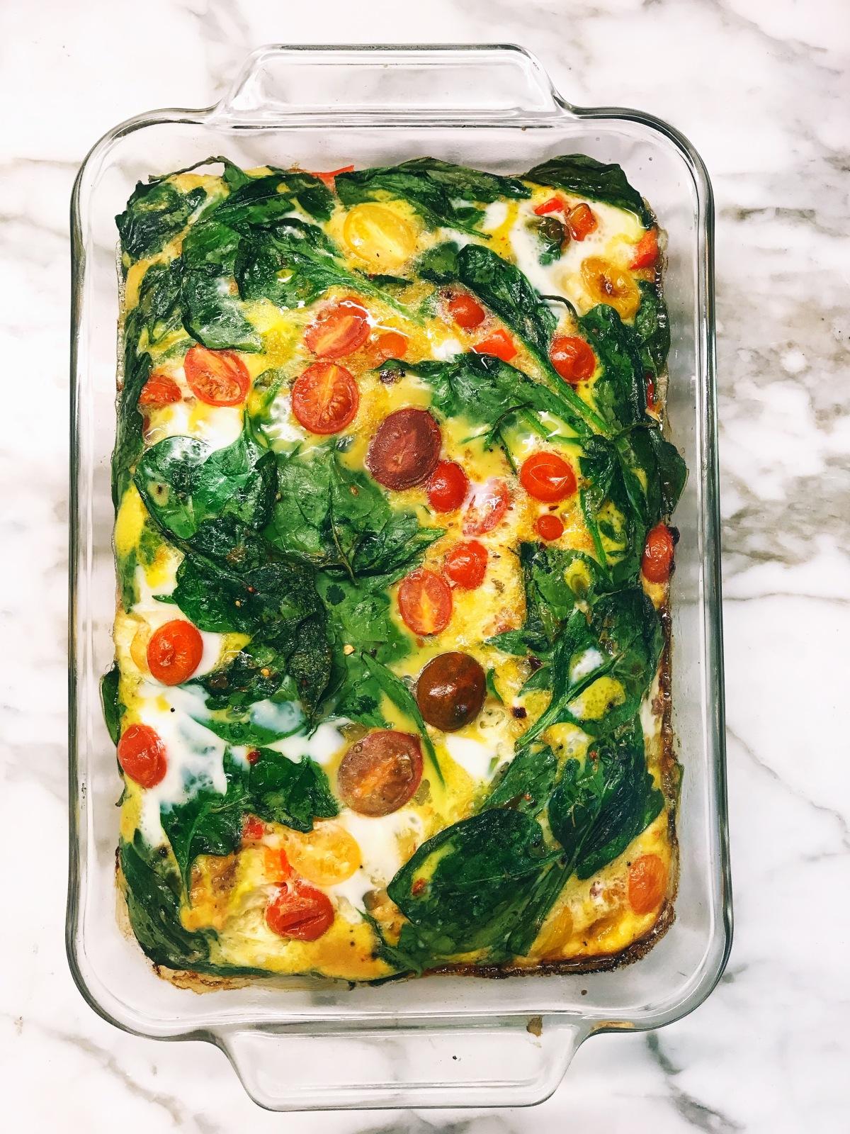 Sausage & Vegetable OmeletBake