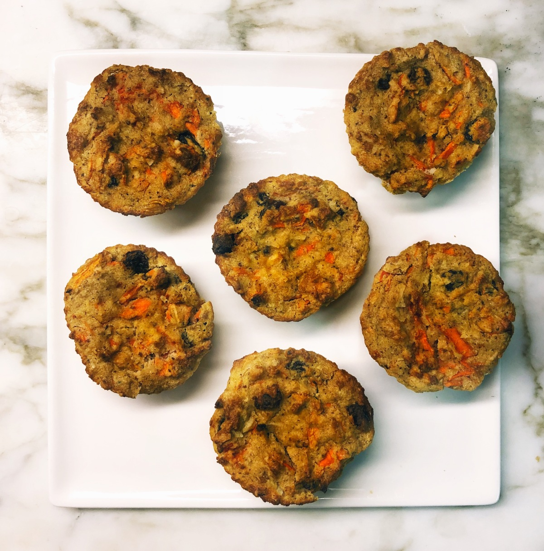 Vegan & Gluten Free Carrot CakeMuffins