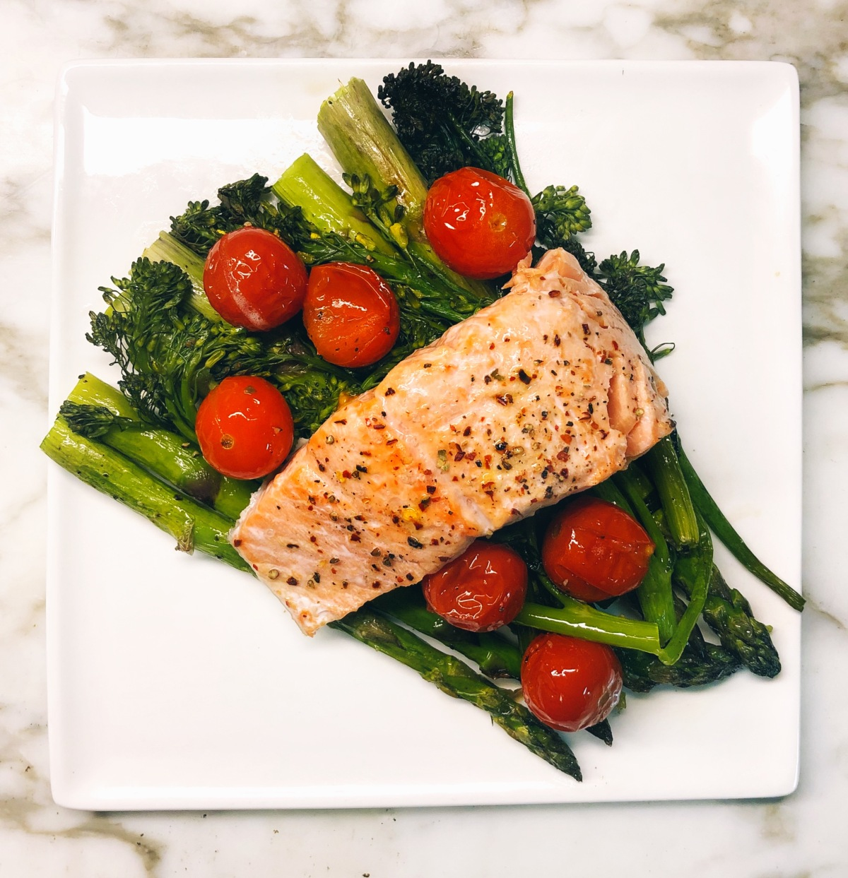 One Sheet Pan Salmon & Vegetables