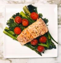 One Sheet Pan Salmon &Vegetables